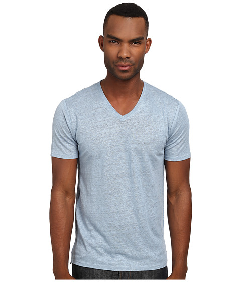Vince - Short Sleeve V-Neck Tee (Still Water) Men