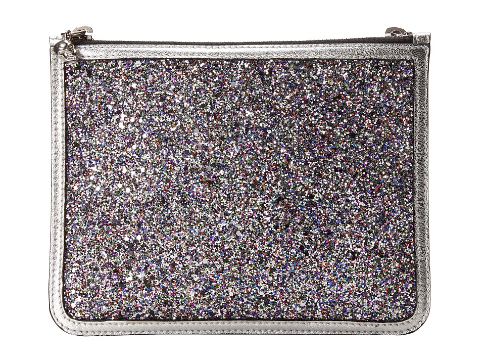 Alexander McQueen Double Pouch Cosmetic Case (Multi/Silver) Cosmetic Case
