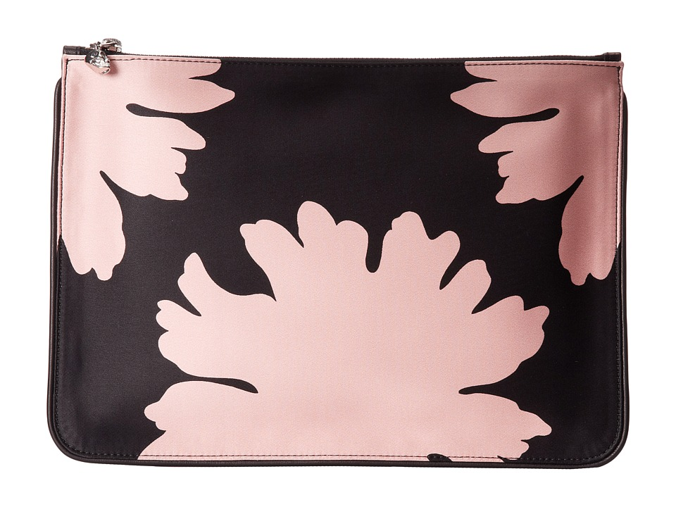 Alexander McQueen - Pouch Cosmetic Case (Black/Geisha Pink/Black) Cosmetic Case