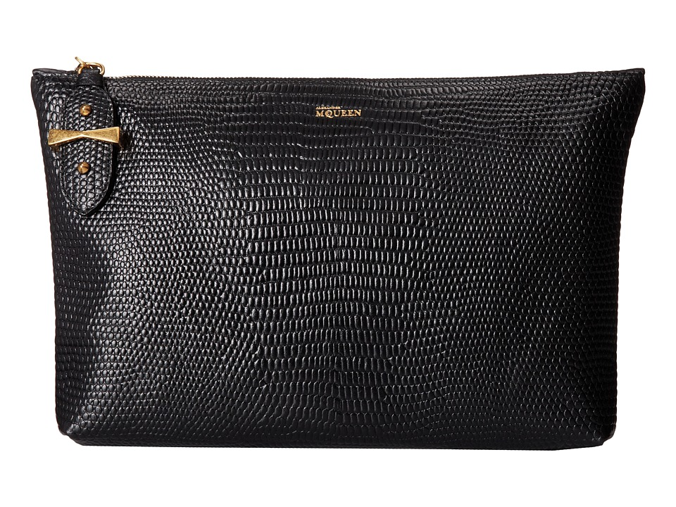 Alexander McQueen - Medium Pouch (Black) Clutch Handbags
