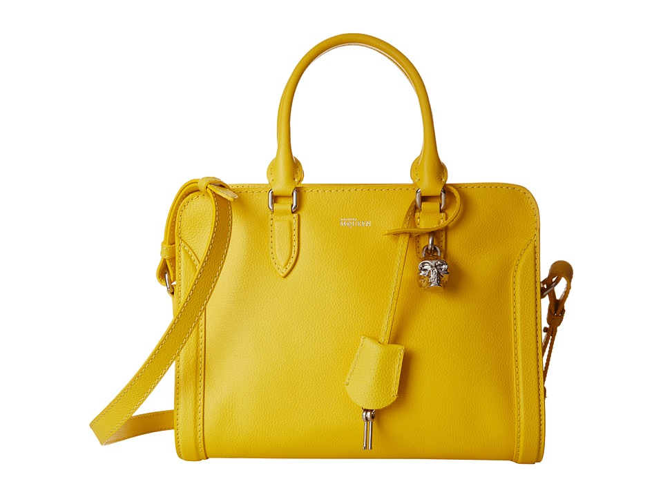 Alexander McQueen - Small Padlock Zip (Imperial Yellow) Tote Handbags