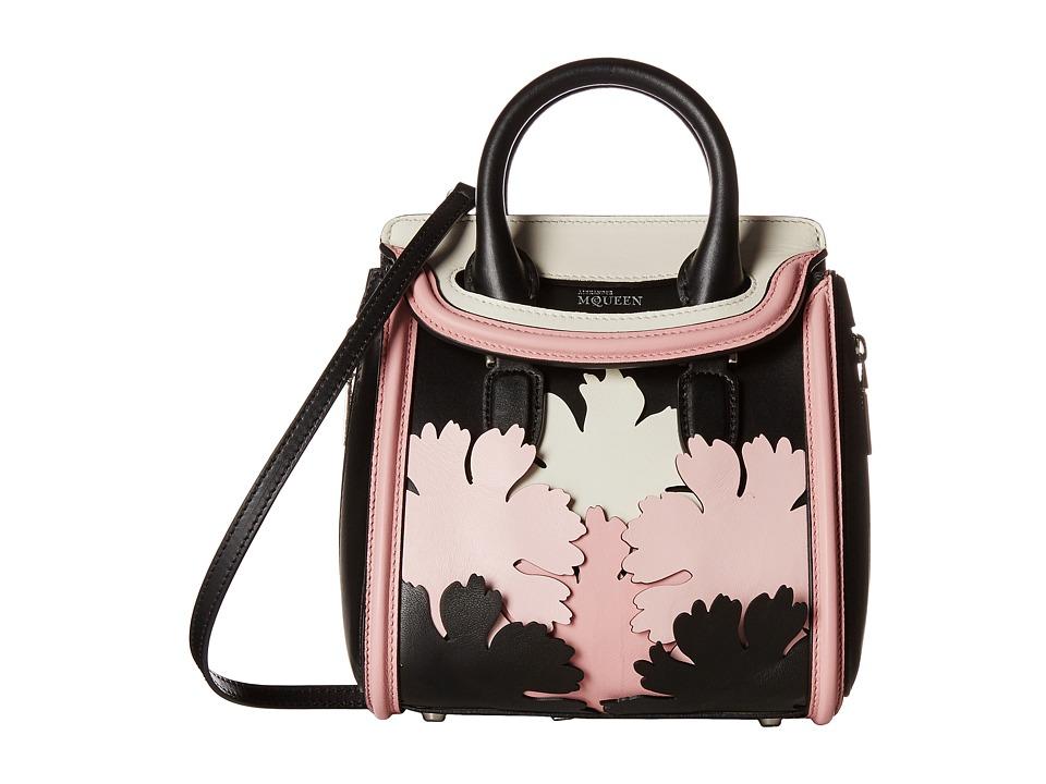 Alexander McQueen - Mini Heroine (Black/Geisha Pink/Silver White) Satchel Handbags