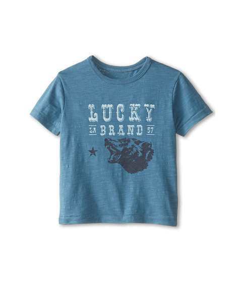 Lucky Brand Kids - Wild Bear Tee (Toddler) (Storm Blue) Boy's T Shirt