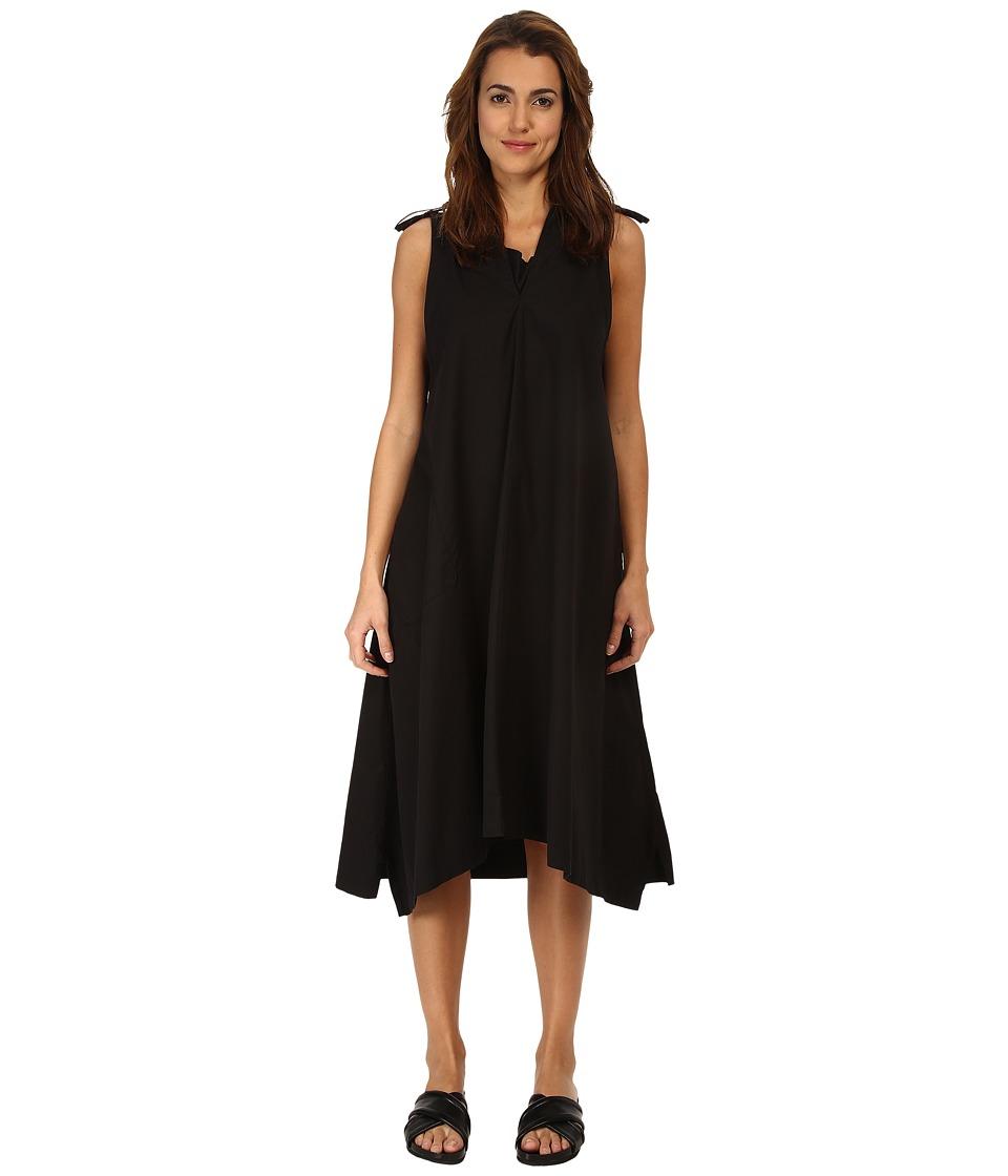 Y's by Yohji Yamamoto - Shoulder with Tab (Black) Women's Dress