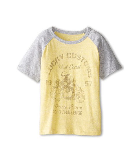 Lucky Brand Kids - Drag Race Raglan (Little Kids/Big Kids) (Banana) Boy