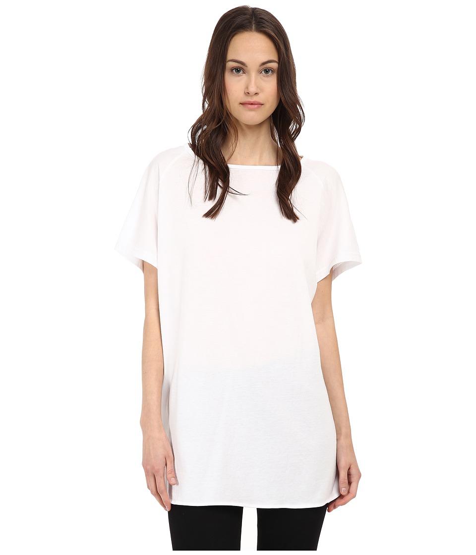 Y's by Yohji Yamamoto - Desin Raglan Tee (White) Women's T Shirt