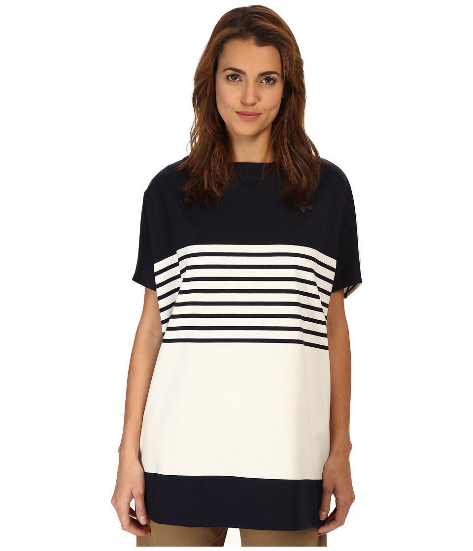 Y's by Yohji Yamamoto - Big Long Tee (Navy) Women's T Shirt
