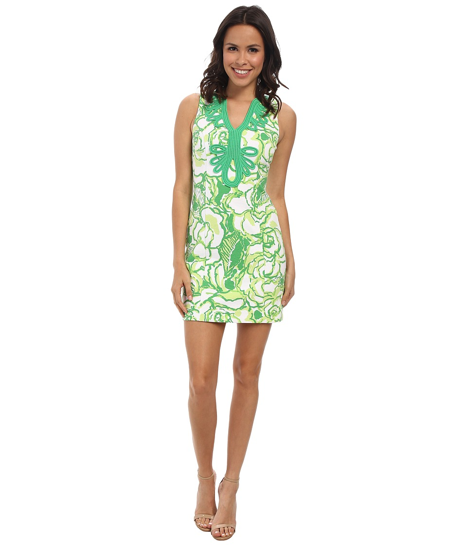 Lilly Pulitzer - Janice Knit Shift Dress (Resort White Heart Breakers) Women's Dress