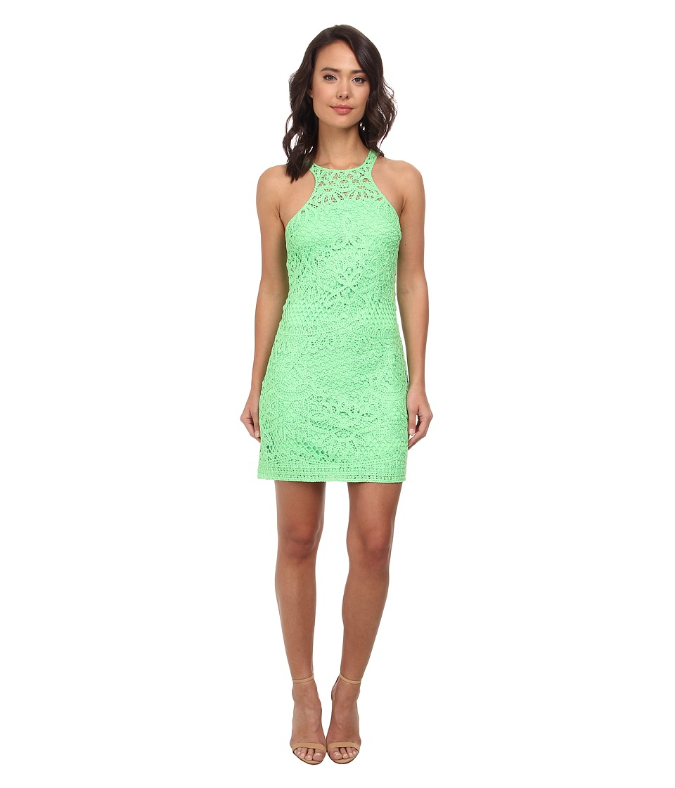 Lilly Pulitzer - Jaimie Shift Dress (New Green Knit Crochet Pa) Women's Dress