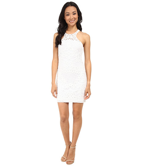 Lilly Pulitzer - Jaimie Shift Dress (Resort White Knit Crochet Pa) Women's Dress