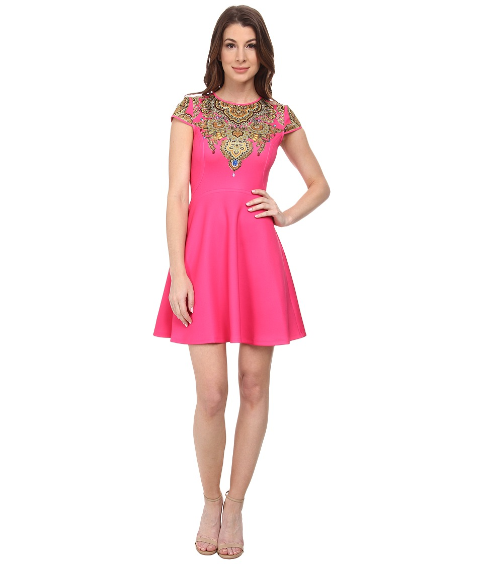 Ted Baker - Marliza Jewel Paisley Neoprene Dress (Bright Pink) Women's Dress