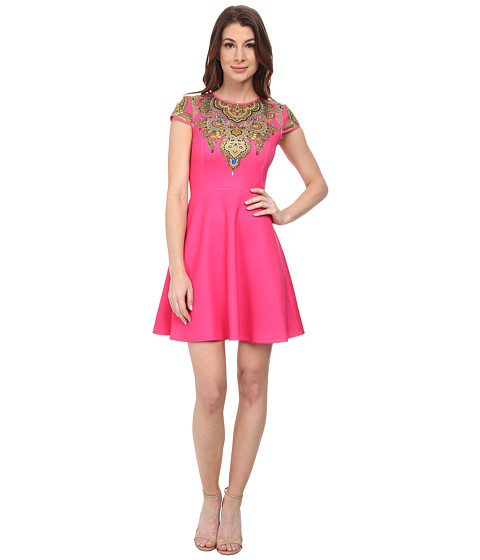 Ted Baker - Marliza Jewel Paisley Neoprene Dress (Bright Pink) Women