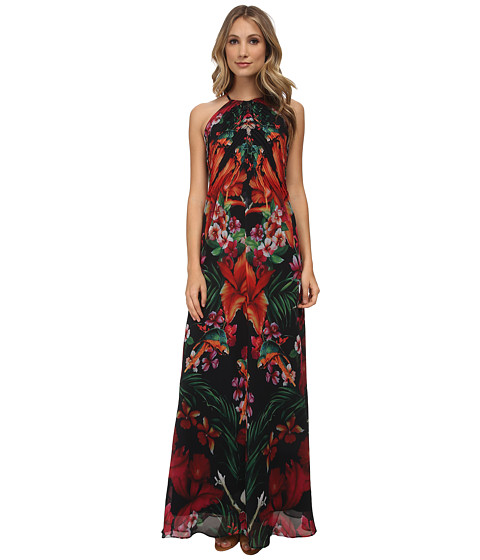 Ted Baker - Mircana Tropical Toucan Maxi Dress (Black) Women's Dress