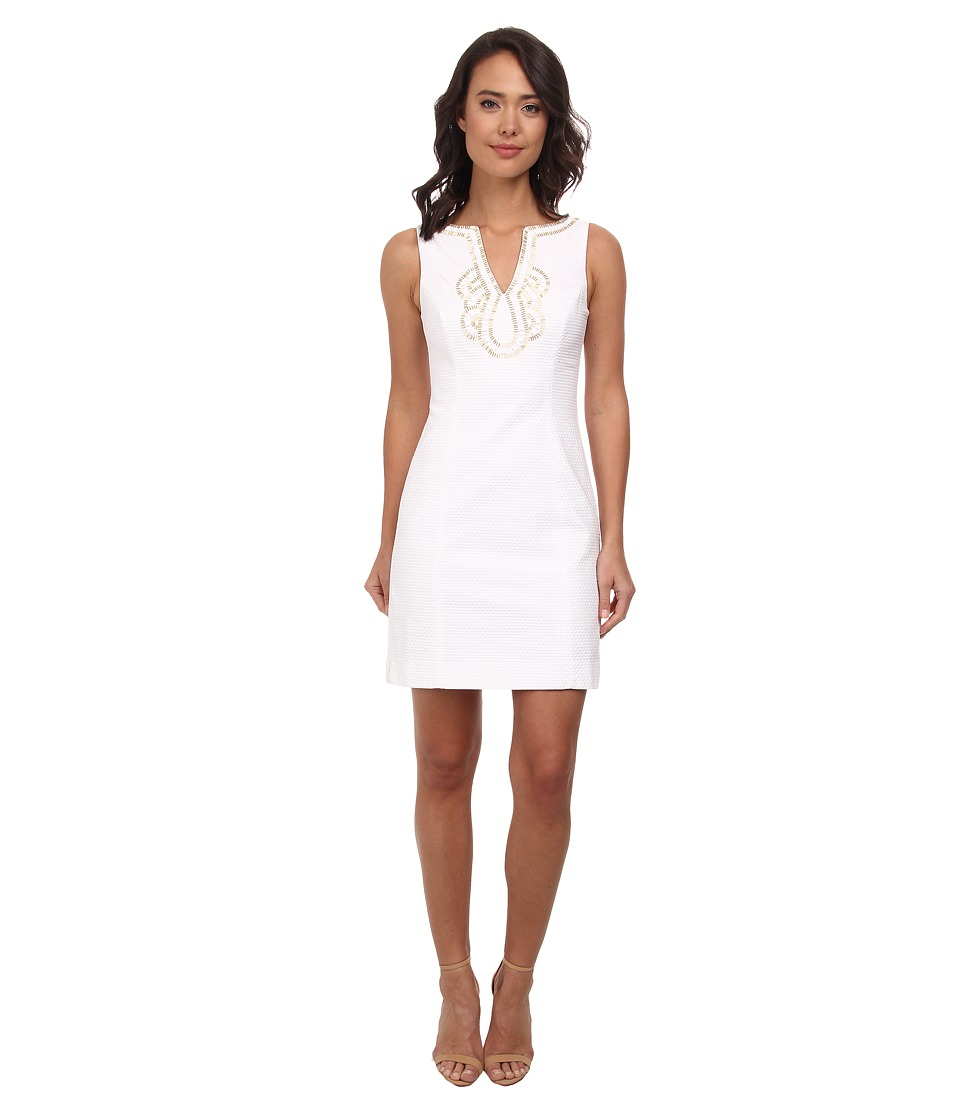 Lilly Pulitzer - Janice Shift Dress (Resort White) Women's Dress