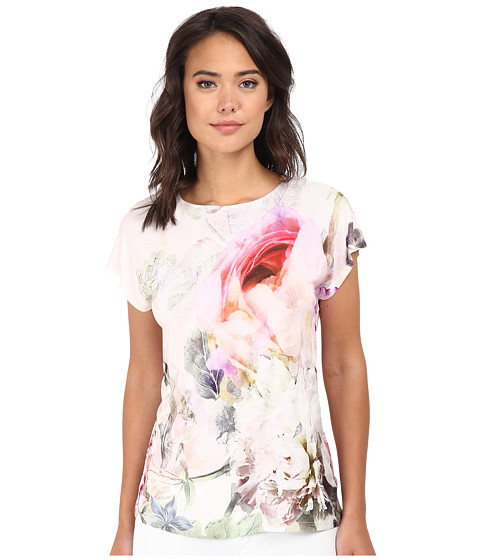 Ted Baker - Eamila Pure Peony Printed Jersey Tee (Dusky Pink) Women