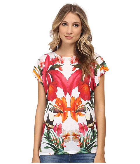 Ted Baker - Keyyle Tropical Toucan Print Tee (White) Women's T Shirt