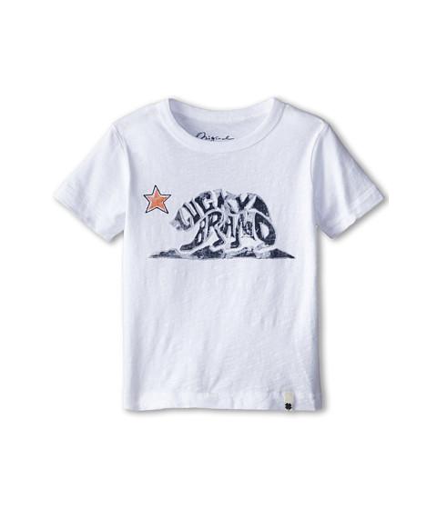 Lucky Brand Kids - Brandbear Tee (Toddler) (White) Boy's T Shirt