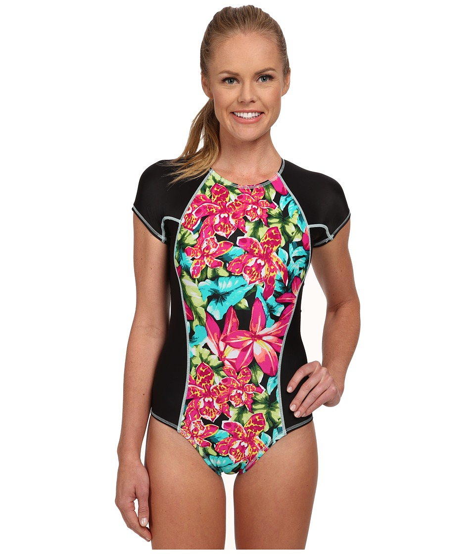 TYR - Florina Willa One-Piece (Black/Multi) Women's Swimsuits One Piece