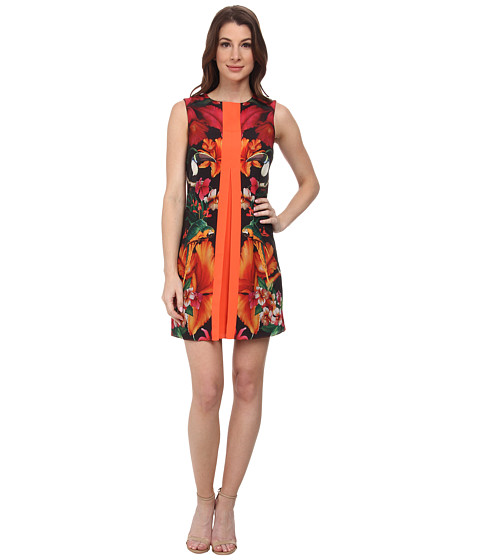 Ted Baker - Barbee Tropical Toucan Pleat Tunic (Black) Women's Dress