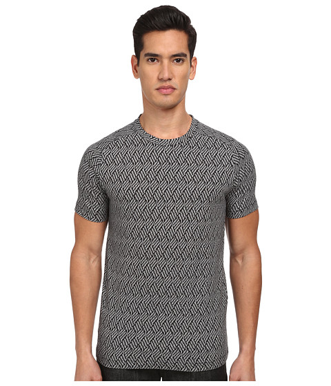 Theory - Venn Shift Terry (Black Multi) Men's T Shirt