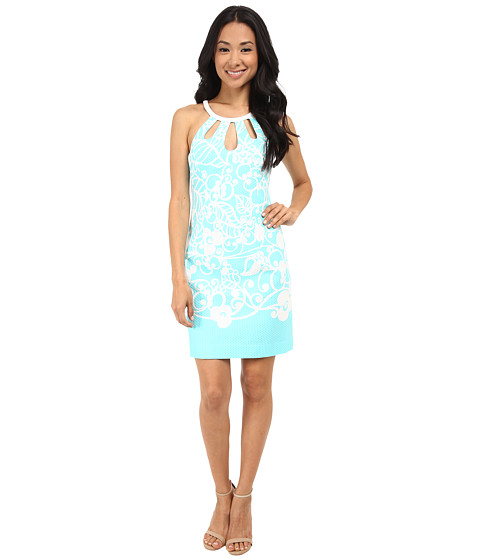 Lilly Pulitzer - Pearl Shift Dress (Shorely Blue Pick Up Lines B) Women's Dress