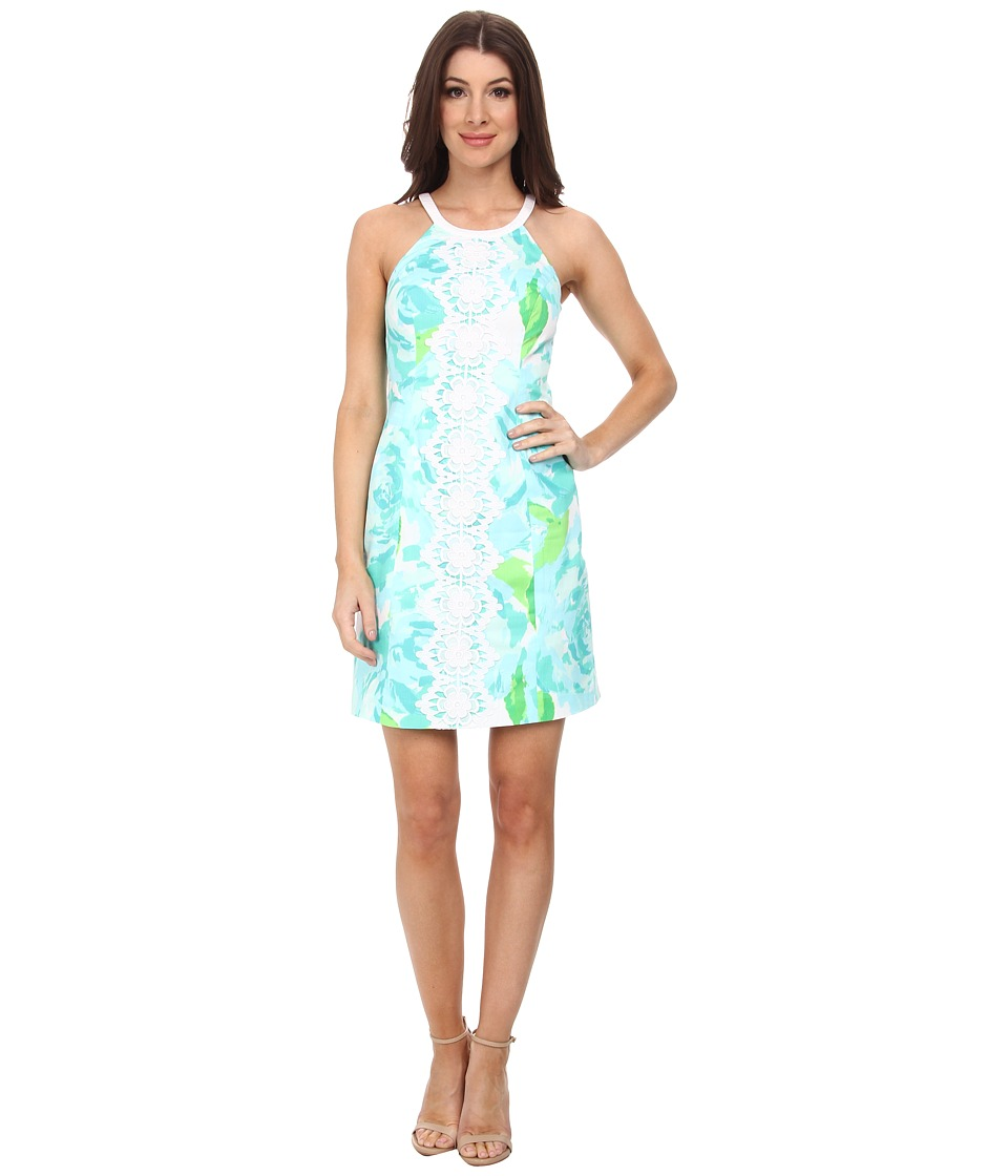 Lilly Pulitzer - Pearl Shift Dress (Poolside Blue First Impression) Women's Dress