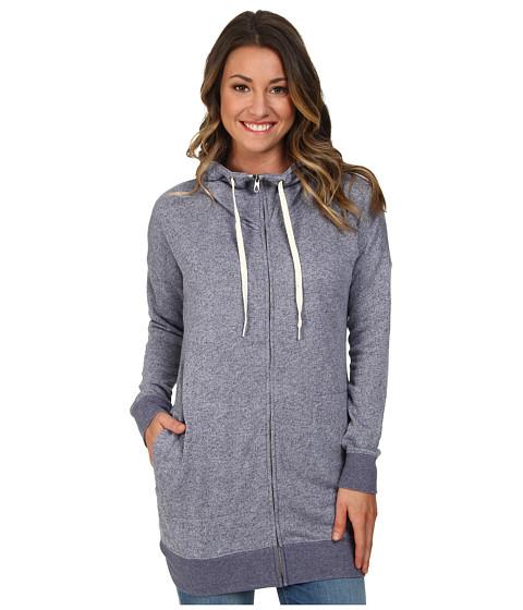 Volcom - Lived In Long Zip Hoodie (Vintage Navy) Women's Sweatshirt