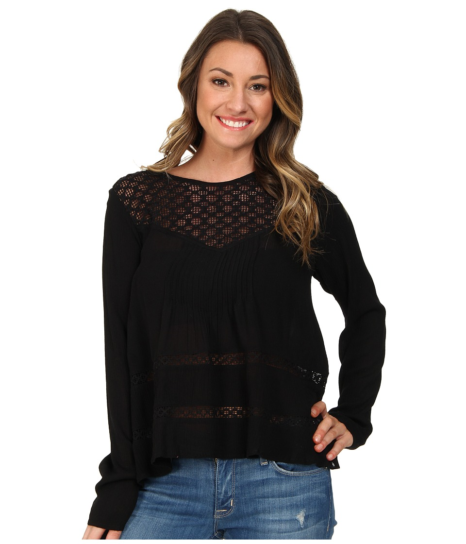 Volcom - Time To Go Top (Black) Women's Long Sleeve Pullover
