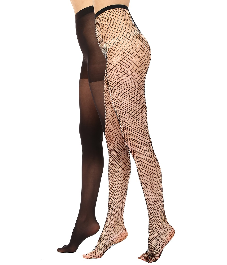 HUE - Super Fishnet/Supersoft Lightweight (Black/Black) Hose