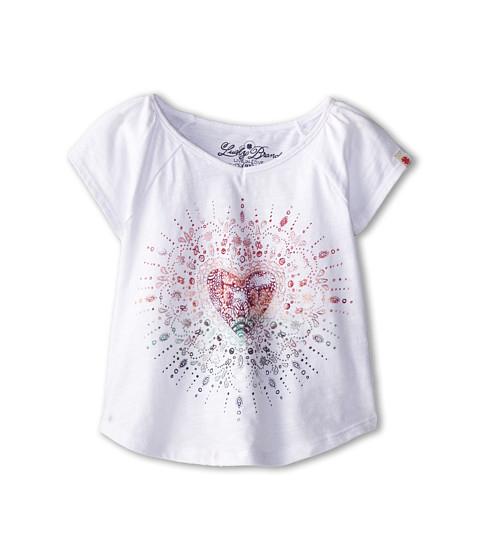 Lucky Brand Kids - Heart Mandala Tee (Toddler) (Bright White) Girl's T Shirt