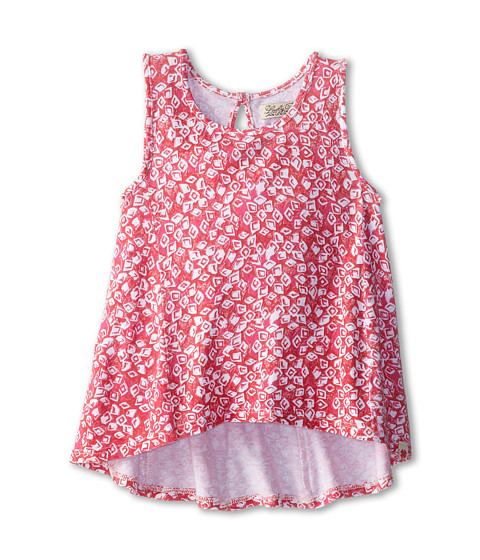 Lucky Brand Kids - Taryn Printed Swing Tank Top (Little Kids) (Claret Red) Girl