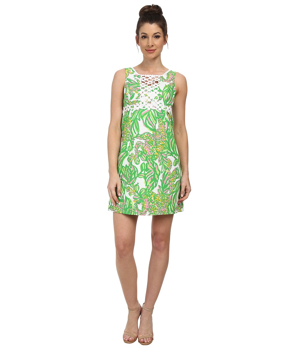 Lilly Pulitzer - Rosie Shift Dress (Resort White Seeing Pink Elephants) Women's Dress