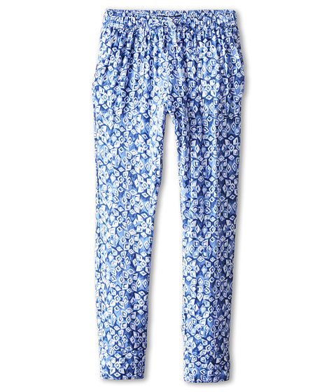 Lucky Brand Kids - Printed Rayon Jogger (Big Kids) (Twilight Blue) Girl