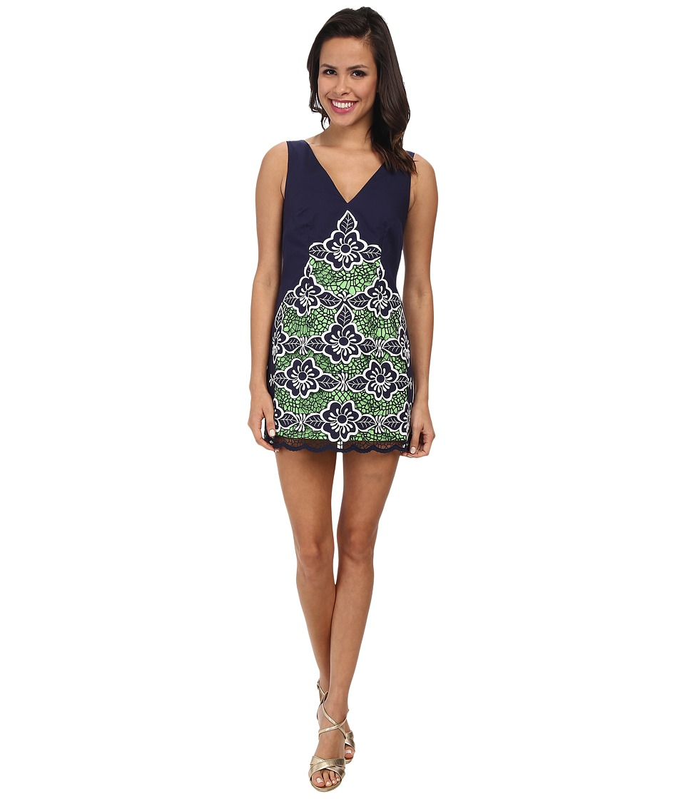 Lilly Pulitzer - Sylvie Shift Dress (True Navy Jungle Flowers) Women's Dress