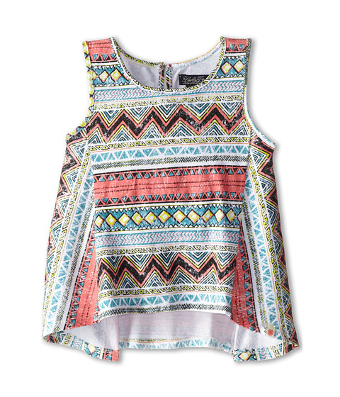 Lucky Brand Kids - Mix Stripe Print Tank (Little Kids) (Caribbean Coral) Girl