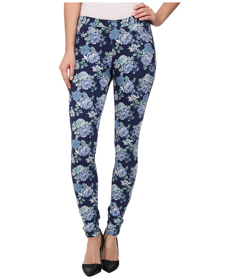 HUE - Floral Original Denim Legging (Dark Denim) Women