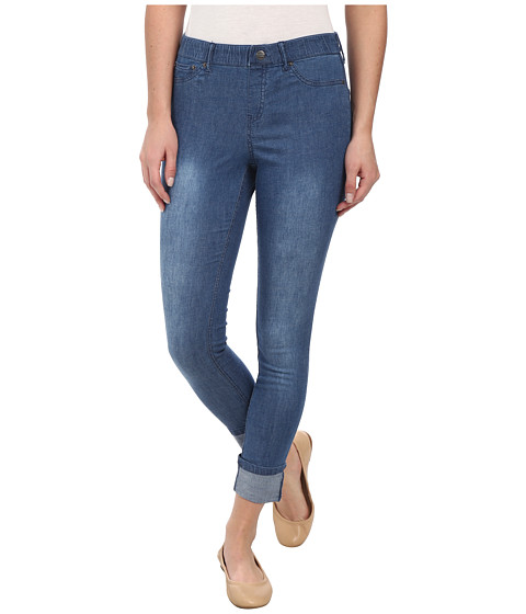 HUE - UltraLite Denim Skimmer w/ Wide Cuff (Blue Wash) Women