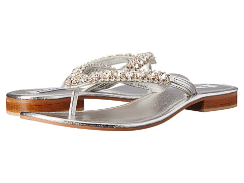 Dune London - Kiki (Silver Leather) Women's Sandals
