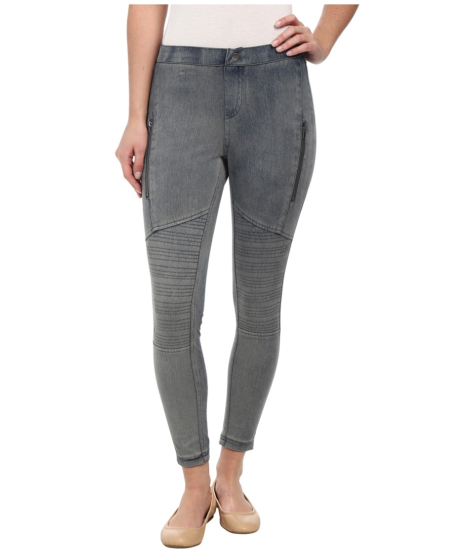 HUE - Moto Denim Skimmer (Acid Wash) Women's Casual Pants