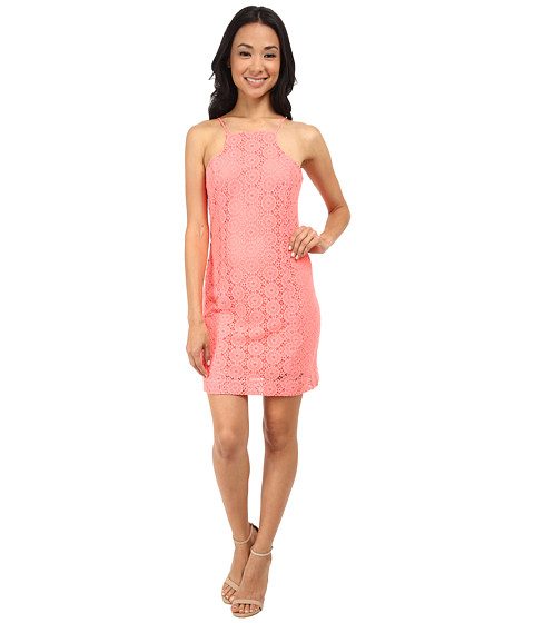 Lilly Pulitzer - Costello Dress (Pucker Pink Breakers Lace) Women