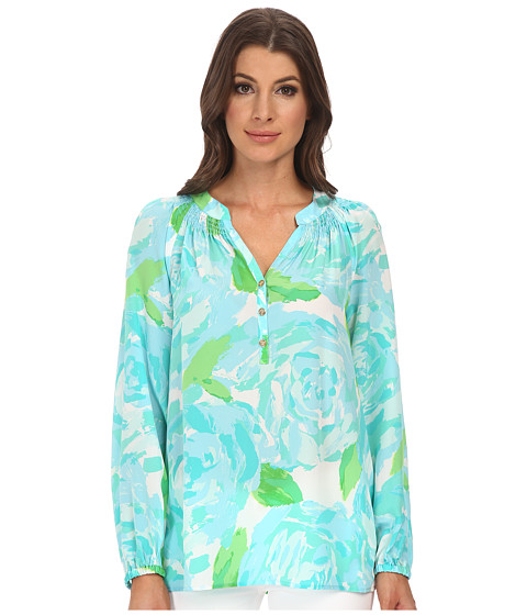 Lilly Pulitzer - Elsa Top (Poolside Blue First Impression) Women