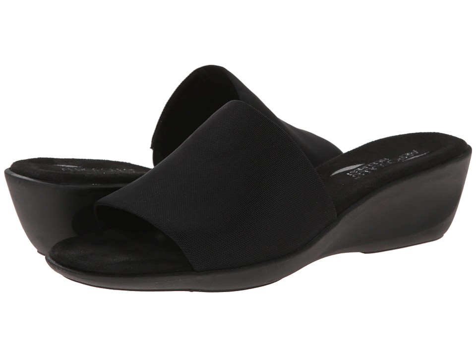 Aerosoles - Badminton (Black Elastic) Women's Slide Shoes