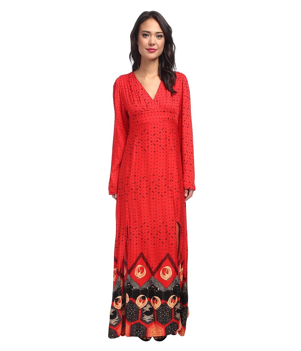 MINKPINK - Dancing Crane Maxi Dress (Red) Women