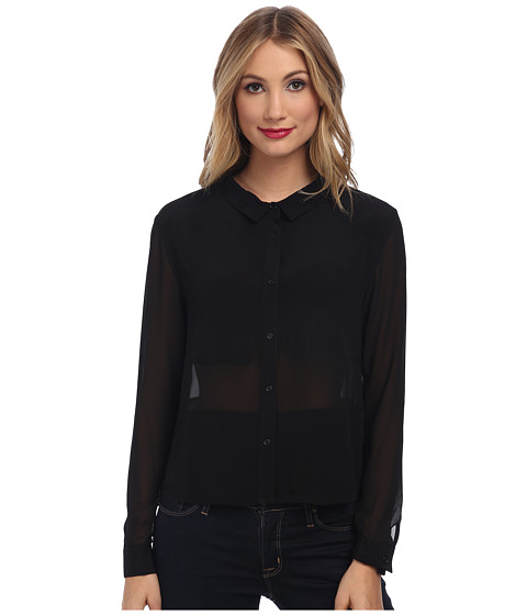 MINKPINK - Lost in Thought Shirt (Black) Women's Clothing