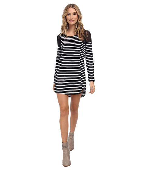 MINKPINK - Cadence Dress (Black/White) Women's Dress