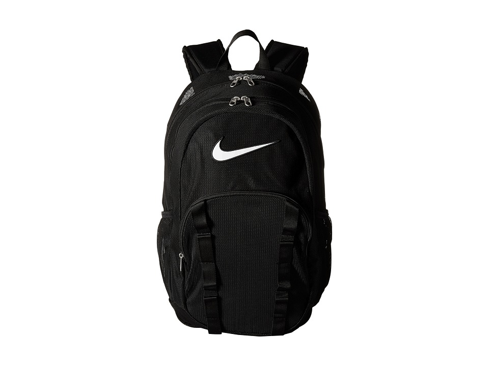 Nike - Brasilia 7 Backpack Mesh XL (Black/Black/White) Backpack Bags