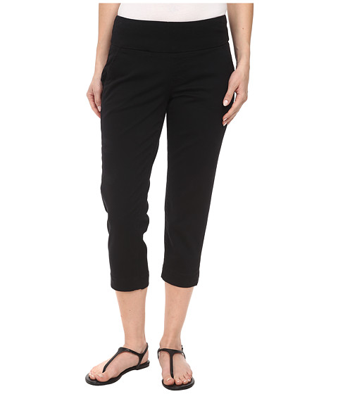 Jag Jeans Petite - Petite Hope Pull-On Crop Slim Fit Bay Twill (Black) Women's Capri