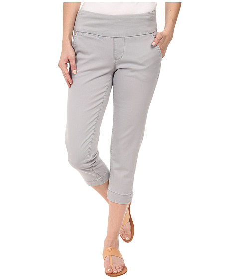 Jag Jeans Petite - Petite Hope Pull-On Crop Slim Fit Bay Twill (Grey Morn) Women's Capri