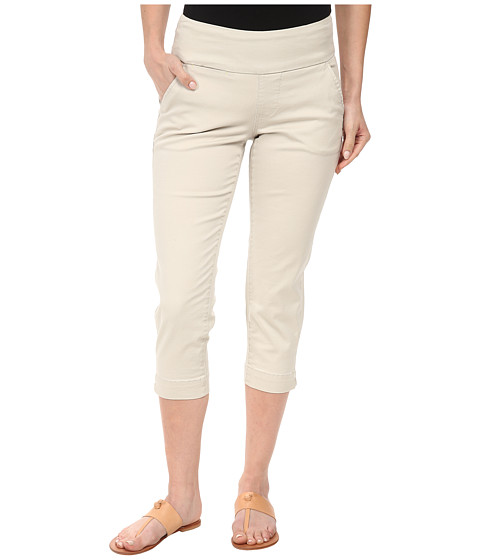 Jag Jeans Petite - Petite Hope Pull-On Crop Slim Fit Bay Twill (Stone) Women's Capri