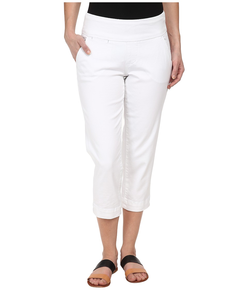 Jag Jeans Petite - Petite Hope Pull-On Crop Slim Fit Bay Twill (White) Women's Capri